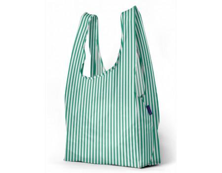 Хозяйственная сумка шоппер большая BAGGU Big Mint Stripe