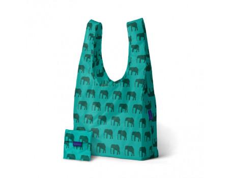 Хозяйственная экосумка шоппер BAGGU Elephant Jade