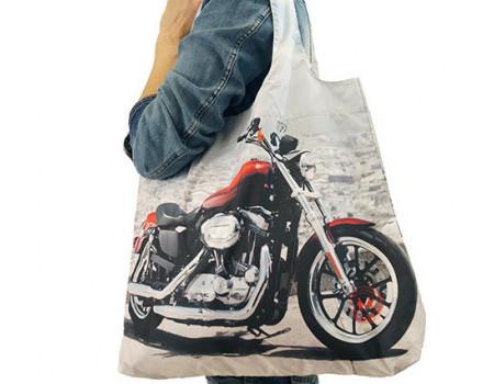 Складная сумка из ткани с фотопринтом Harley Davidson