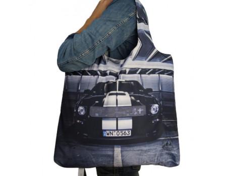 Складная сумка из ткани с фотопринтом Mustang