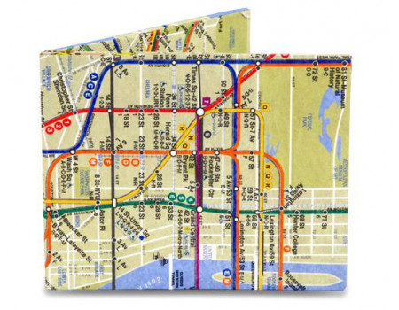Портмоне Might Wallet NYC Subway Map