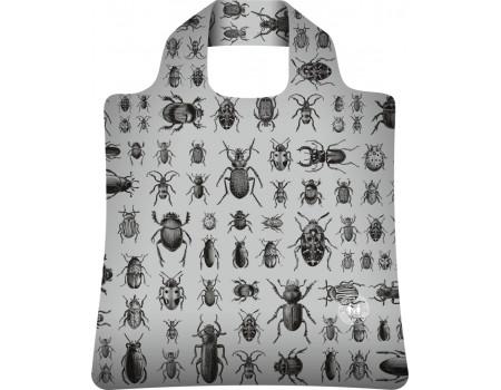Складная сумка из ткани Жуки