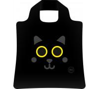 Сумка складная с принтом Черный кот