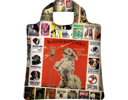 Складная сумка из ткани  Dog
