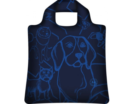 Складная сумка из ткани  I love dogs