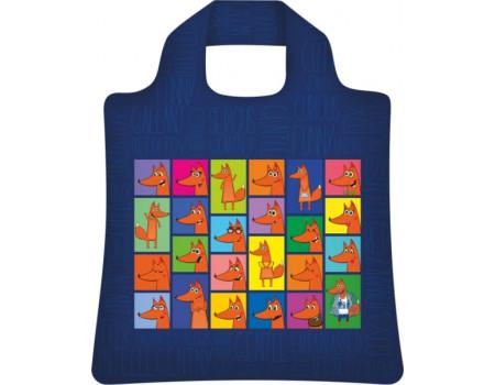 Складная сумка из ткани Лисы-2
