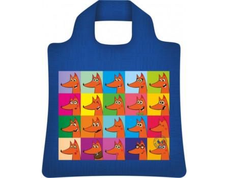 Складная сумка из ткани Лисы