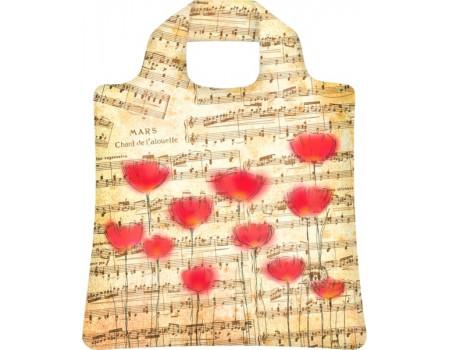 Складная сумка из ткани Ноты