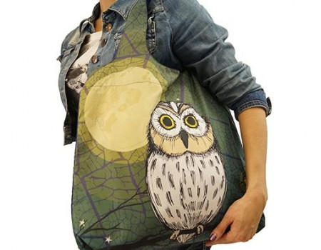 Складная сумка из ткани Сова