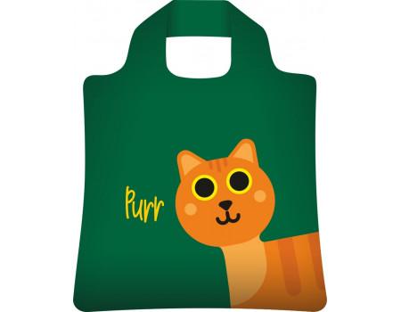 Складная сумка из ткани с принтом Рыжий кот