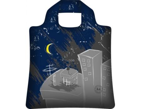 Складная сумка из ткани Ночной город