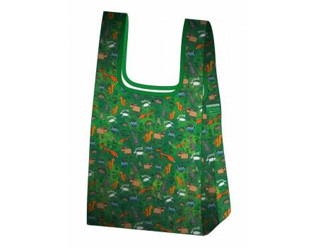 Складная сумка-пакет из ткани Веселые Зверята