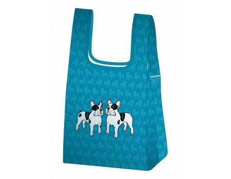 Складная сумка-пакет из ткани Бульдоги-2