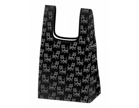 Складная сумка-пакет из ткани Собачки