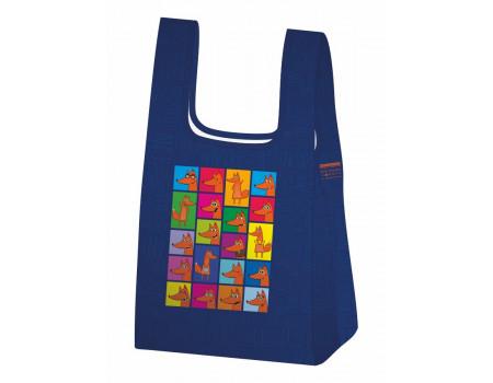 Складная сумка-пакет из ткани Лисье Настроение