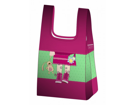 Складная сумка-пакет из ткани Девочка