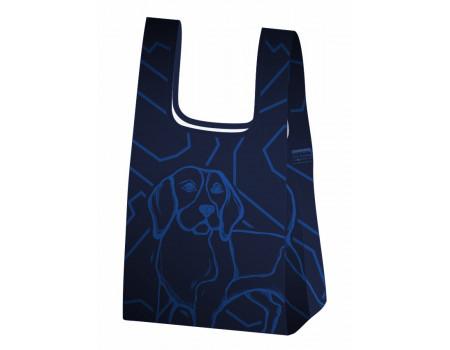 Складная сумка-пакет из ткани  I love dogs