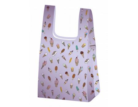 Складная сумка-пакет из ткани Мороженое