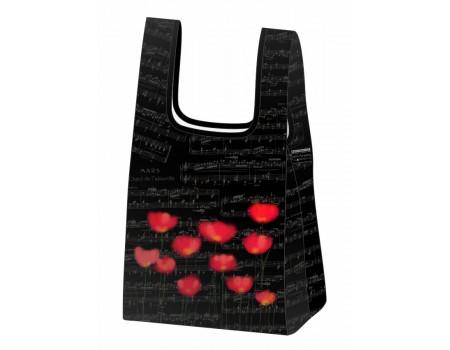 Складная сумка-пакет из ткани  Ноты