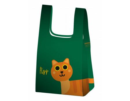 Складная сумка-пакет из ткани Рыжий кот