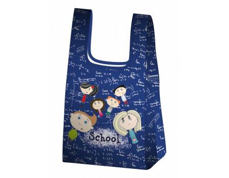 Складная сумка-пакет из ткани Школа