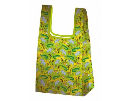 Складная сумка-пакет из ткани Зоопарк