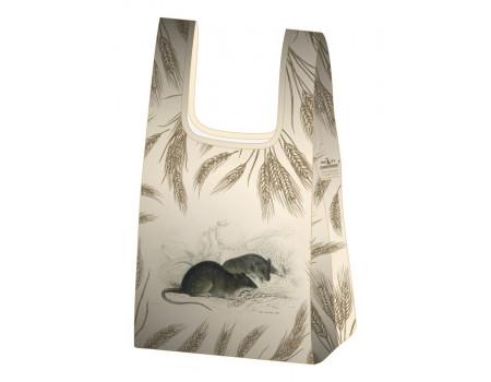 Складная сумка-пакет из ткани Год крысы