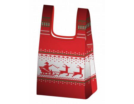 Складная сумка-пакет из ткани Зимняя повозка