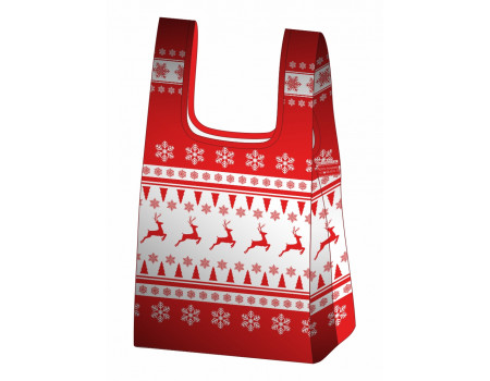 Складная сумка-пакет из ткани Олени