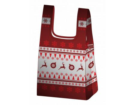 Складная сумка-пакет из ткани Олени-2