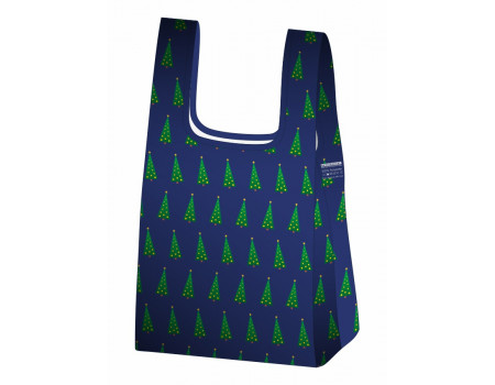 Складная сумка-пакет из ткани Новогодняя елка