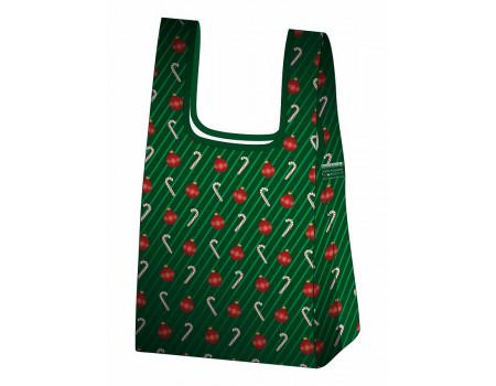 Складная сумка-пакет из ткани Новогодняя