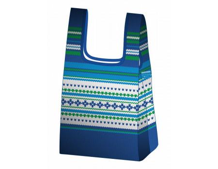 Складная сумка-пакет из ткани Зимняя