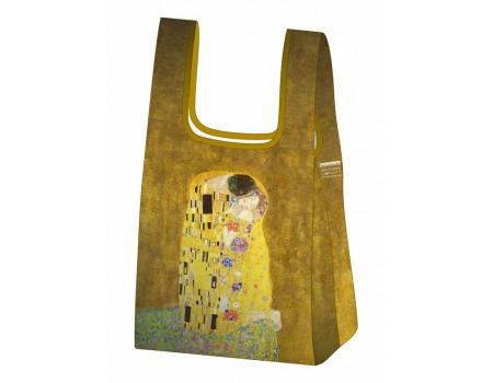 Складная сумка-пакет из ткани  Ecobags Климт Поцелуй