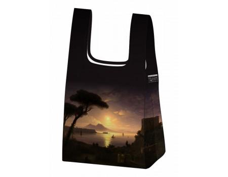 Складная сумка-пакет из ткани Ecobags Айвазовский Неаполитанский залив в лунную ночь