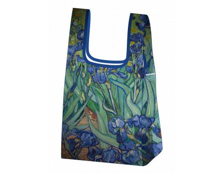 Складная сумка-пакет из ткани  Ecobags Ван Гог Ирисы