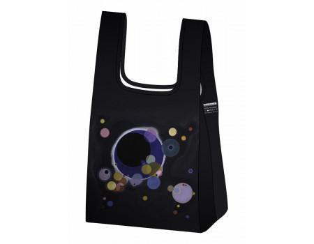 Складная сумка-пакет из ткани Ecobags Кандинский Несколько кругов