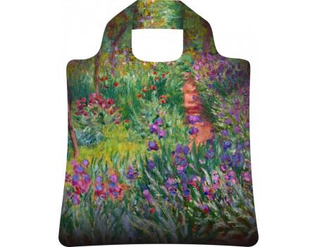 Складная сумка из ткани  Ecobags Клод Моне Ирисы в Живерни