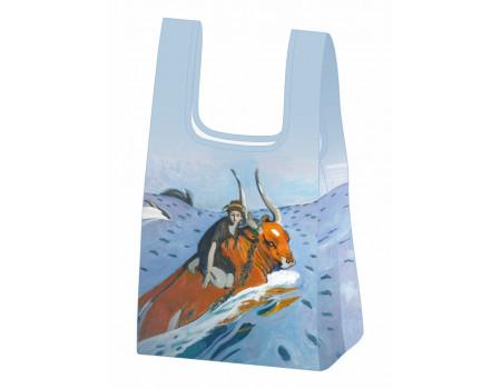 Складная сумка-пакет из ткани  Ecobags Валентин Серов — Похищение Европы