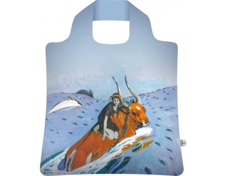 Складная сумка из ткани Валентин Серов — Похищение Европы