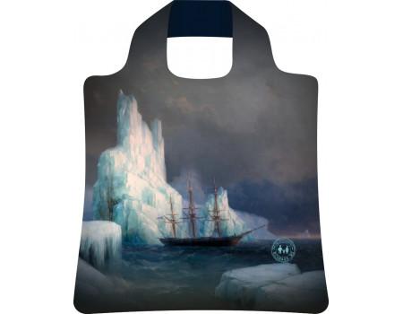 Складная сумка из ткани  Ecobags Ледяные горы в Антарктиде