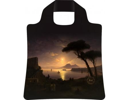 Складная сумка из ткани  Ecobags Неаполитанский залив в лунную ночь