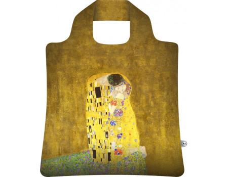 Складная сумка из ткани Густав Климт Поцелуй