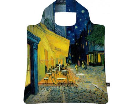 Складная сумка из ткани Винсент Ван Гог — Ночная терраса кафе