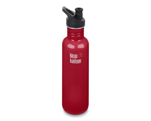Спортивная бутылка Klean Kanteen Classic Sport 800мл - Mineral Red