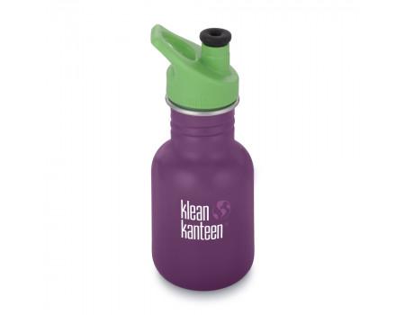Детская бутылка для воды из нержавеющей стали Klean Kanteen Kid Sport Winter Plum