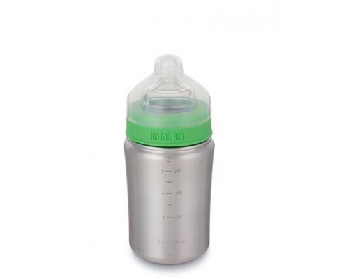 Бутылочка для кормления грудничков 266 мл - Brushed Stainless