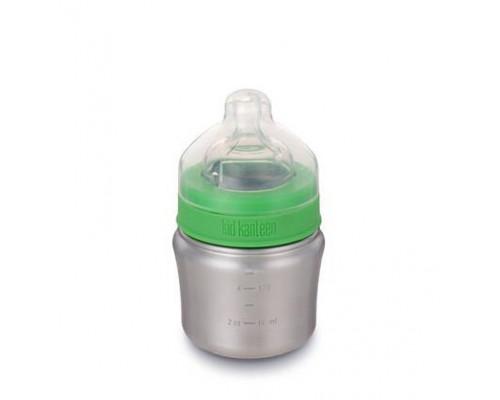 Бутылочка для кормления новорожденных 148 мл - Brushed Stainless