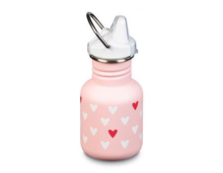 Детская бутылка для воды из нержавеющей стали Klean Kanteen Kid Sippy Millenual Hearts