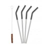 Металлические трубочки для коктейлей и смузи Klean Kanteen 5pc Straw Set